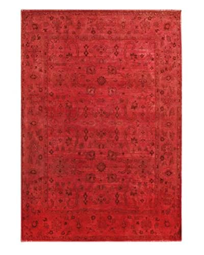 "nuLOOM One-of-a-Kind Vintage Hand-Knotted Overdyed Rug, Red, 5' 1"" x 6' 8"""