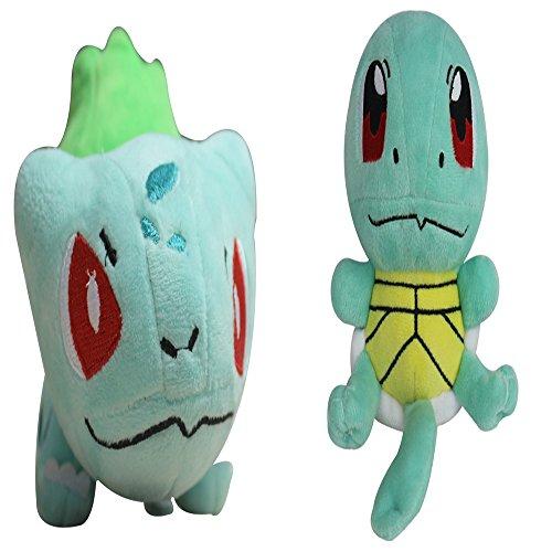 [Pokemon Bulbasaur SquirtlePlush Stuffed Toy Doll Set of 2,7.8