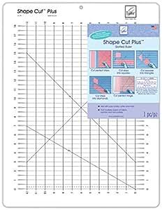 Shape Cut Plus 12 Inch x 18 Inch Slotted Ruler