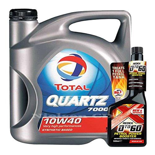 total-quartz-7000-10w40-oil-5l-redex-petrol-0-to-60-octane-booster-500ml