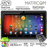 51SnbPNUx%2BL. SL160  7 .TAB Nero x2 Dual Core Android 4.1 Multi Touch Tablet PC (Black)