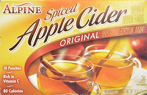 Alpine Spiced Apple Cider Instant Drink Mix Original - 10 CT