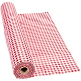 """100' X 40"""" Red Gingham Tablecloth Roll - Party Tableware & Table Covers"""