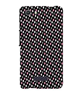 Brownish Pink Dotted 3D Hard Polycarbonate Designer Back Case Cover for MIcromax Canvas Unite 3 Q372
