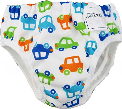 DM便発送 水遊び用パンツ カラフル車柄(90cm) ベビースイミング 水あそびパンツ 男児パンツ型 (90)