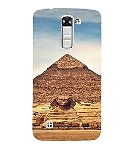 PrintVisa Travel Egypt Pyramids Design 3D Hard Polycarbonate Designer Back Case Cover for LG K10
