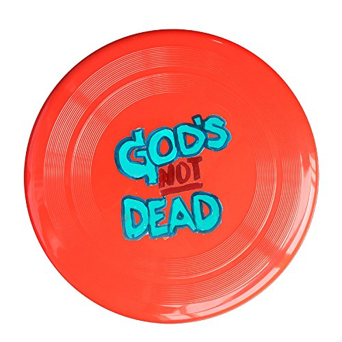 Discovery Wild God's Not Dead 2 Plastic Frisbee Flying Disc - Frisbee Like Toy For Outdoor Game Play - Sports For All Ages - Party Fun - Red