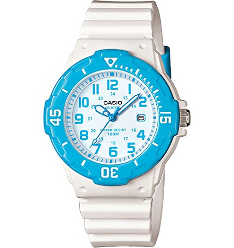 Casio Women's LRW-200H-2BVCF Dive Style Analog Display Quartz White Watch