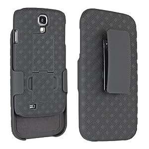 Samsung Galaxy S4 Case - Wydan Matte Black Swivel Slim Belt Clip Shell Holster Combo Armor Protective Defender Trendy Cover