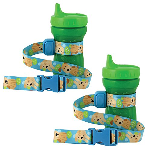 PBnJ Baby SippyPal Sippy Cup Holder Strap Leash Tether (Puppy 2-Pack) (Monkey Sippy Cup compare prices)