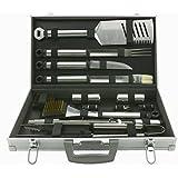 Mr. Bar-B-Q 02066x Silver Prestige 21-Piece Tool Set In Case