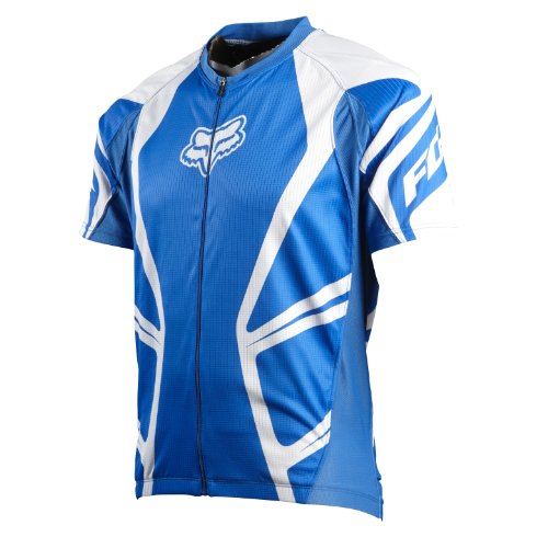 Fox Clothing Race Short Sleeve Mountain Bike Jersey Large Blue