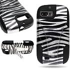 CoverON® Kickstand Hard + Soft Dual Layer Hybrid Case for ZTE Fury / Director / Valet - Black White Zebra Design Black Soft Silicone