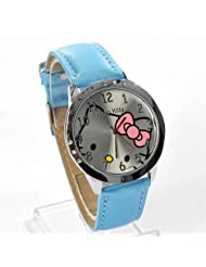 Hello Kitty Quartz Wristwatch Leather
