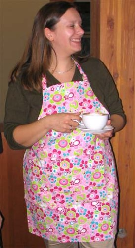 Twinklebelle Aprons in Pink Sweetheart Print, for Cooking, Gardening, Crafting, Great to wear or give