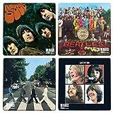 正規品 ビートルズ コースター 4枚セット Beatles Coaster Set ジョン ポール ジョージ リンゴ 並行輸入