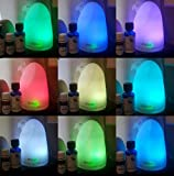 Icicle Ice Cream Essential Oil Diffuser, 100ml Portable Ultrasonic Aromatherapy Cool Mist Humidifier with 7 Color LED Lights Changing, Waterless Auto Shut-off and Adjustable Mist Mode