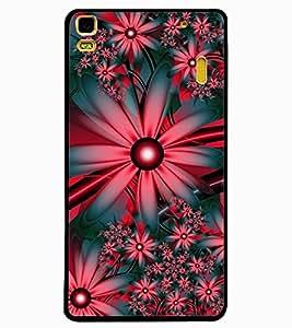 ColourCraft Flowers Design Back Case Cover for LENOVO A7000
