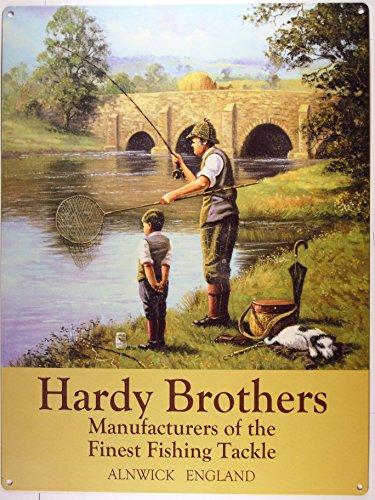 angeln-fischen-hardy-brothers-blechschild-stabil-gross-neu-40x30cm-s2208