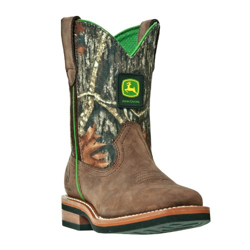 John Deere 2368 Western Boot (Toddler/Little Kid),Tan/Camo,10.5 M US Little Kid