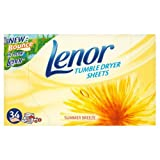 Lenor Summer Breeze Tumble Dryer Sheets 34s Case of 12