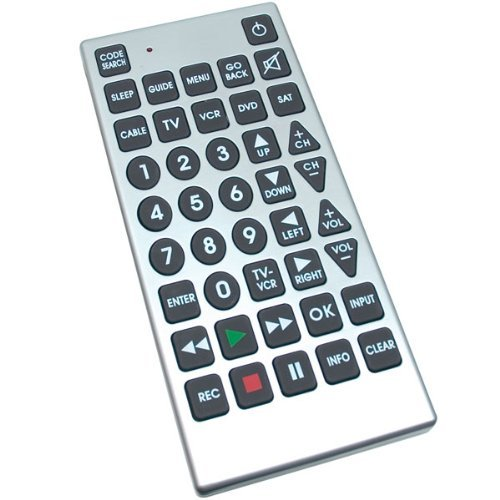 RoyalCraft TM Jumbo Universal Remote Control for Low Vision. (Vision Remote Control compare prices)