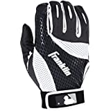 Franklin Sports 2nd-Skinz Batting Gloves Black/White Adult X-Large, X-Large/Black/White