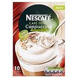 Nescafé Café Menu Cappuccino Unsweetened Taste 14.2 g (Pack of 12, Total 120 Sachets)
