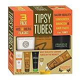 Tipsy Tubes 8 Oz. Hidden Alcohol Flask 3-pack. Unique Secret Flasks.
