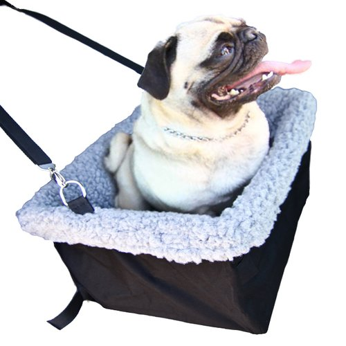 Devoted Doggy Metal Frame Construction Pet Booster Seat with Zipper Storage Pocket, Black/Grey (Pet Booster Car Seat compare prices)