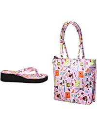 New Design Ladies Slipper With Ladies Bag Free