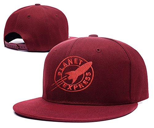 XINMEN Futurama Planet Express Logo Adjustable Snapback Embroidery Hats Caps - Red