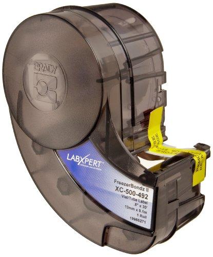 "Brady Xc-500-492 Idxpert And Labxpert 19"" Width X 0.5"" Height, B-492 Polyester, Semi-Gloss Finishblack On Whitelabel (30 Feet Roll Per Cartridge)"