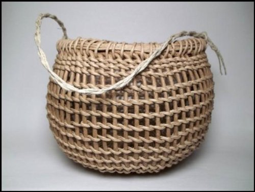 Native American Basket Weaving Kits : Twined gathering basket kit arts entertainment hobbies