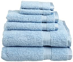 Superior Egyptian Cotton 6-Piece Towel Set, Light Blue by Superior