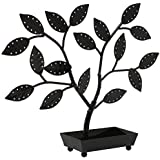 Tree Design Metal Earring, Necklace, Jewelry Hanger Holder Organizer Display Stand w/ Ring Dish Tray