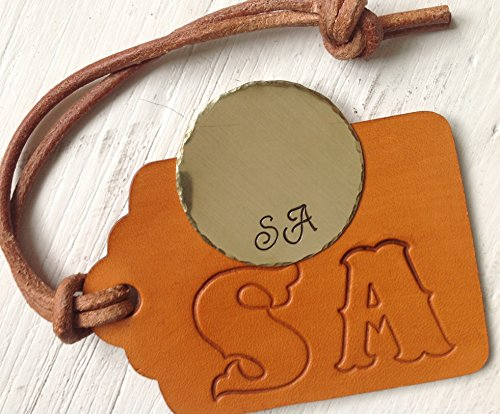 solid-brass-personalised-custom-golf-ball-marker-tan-leather-luggage-caddy-tag