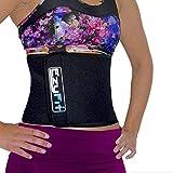 EzyFit Adjustable Waist Trimmer Belt - Stomach Body Wrap & Back Lumbar Support -Trim Curves, Strengthen Tummy Abs, Improve Posture, Belly Fat Burning 8 Inch Wide Belt