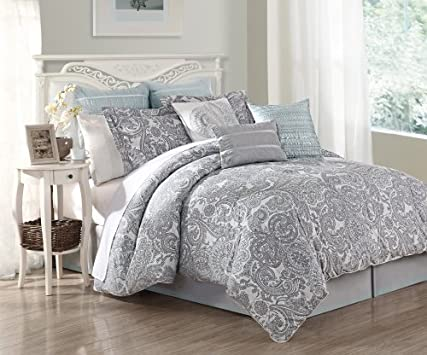 Stunning  Piece Queen Luxe Cotton Bed in a Bag Set