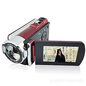 "Toughsty® 2.7"" LCD 1080P Full HD DV Camera 16x Zoom Camcorder 270°Rotation(Red)"