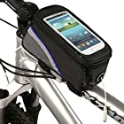E-PRANCE 5.5 Inch Bicycle Frame Pannier Front Top Tube Bag for iPhone Samsung Phone Color Blue