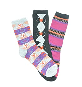 Fox Squirrel Crew Socks 3-Pack