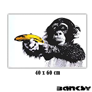 banksy monkey banana gun