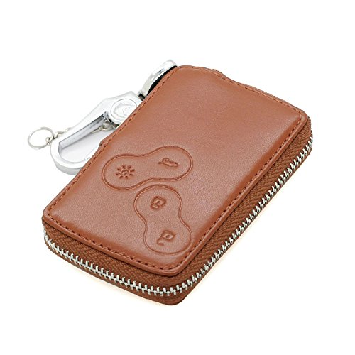 genuine-leather-zipper-bag-key-case-holder-cover-fit-for-renault-smart-card-4-button-5360-brown