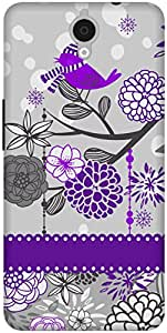 The Racoon Lean Purple Sparrow Song hard plastic printed back case / cover for Alcatel Onetouch Idol X Plus 6043D
