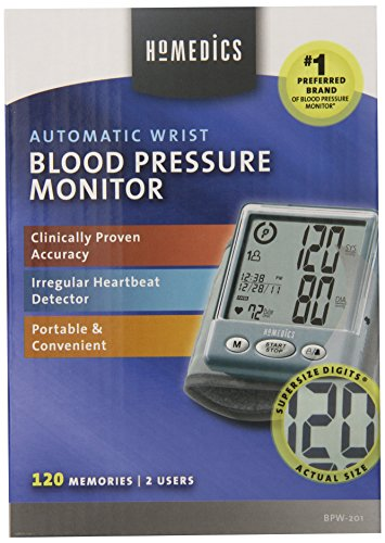 HoMedics BPW-201 Automatic Wrist Blood Pressure Monitor with Supersize Digits, Smart Measure Technology and Irregular Heartbeat Detector (Homedic Blood Pressure Cuff compare prices)