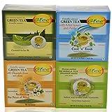 GTEE Green Tea Bags - Regular & Green Tea Bags-Mint & Green Tea Bags-Chamomile & Moringa Tea Bags (10 Tea Bags...