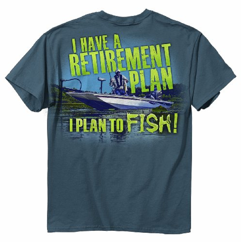 Buck Wear Retirement Plan Short Sleeve Tee, Indigo, XX-Large