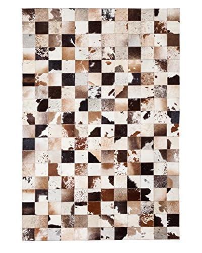 Darya Rugs Cowhide Oriental Rug, Brown, 6' 1 x 4' 1