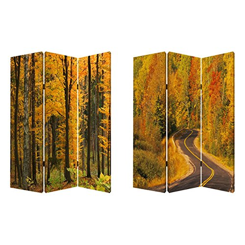 Screen Gems Autumn Journey Double Sided Room Divider